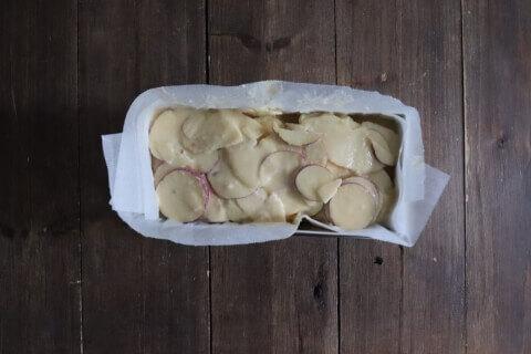 焼く前 さつまいもとりんごの米粉ガトーインビジブル