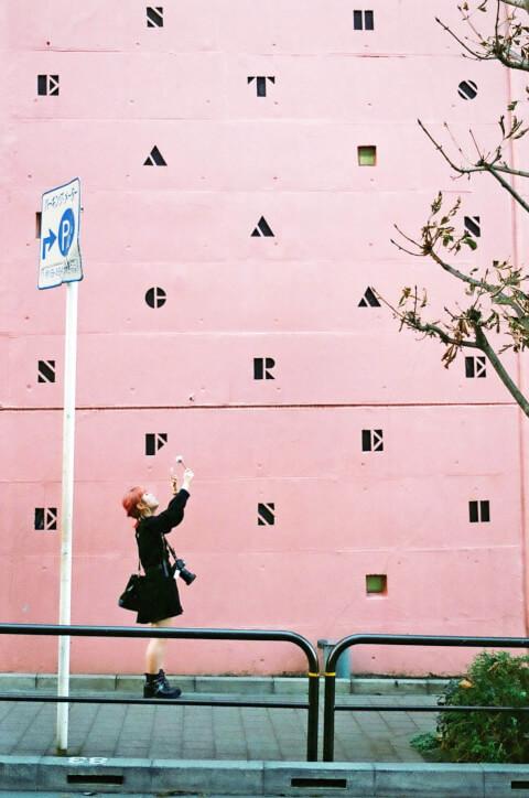 インスタ映え 撮り方 おしゃれな壁