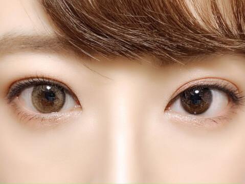 橋本環奈 カラコン 韓国 ビビリング ブラウン 裸眼比較