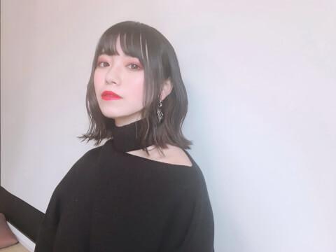 ミディアム_黒髪_ヘアアレンジ_ヘアスタイル_レングス_髪型_美容_ヘア