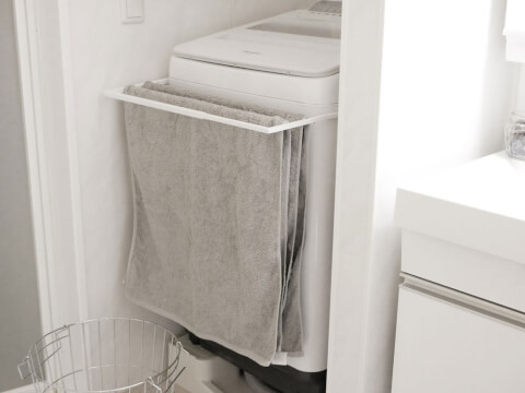 洗濯機前面の収納アイデア
