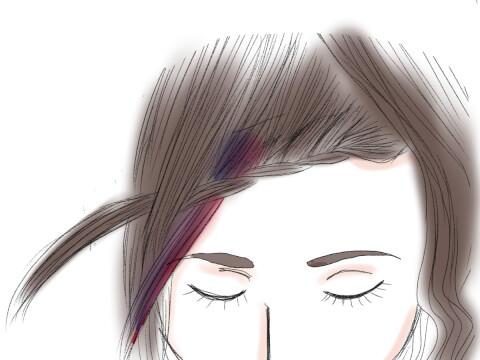 前髪編み込みのやり方