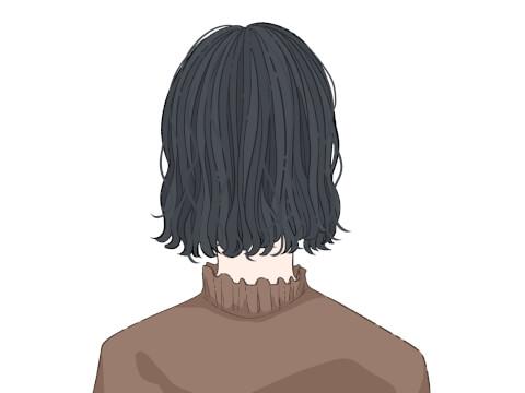 黒髪ボブ ミディアブボブ