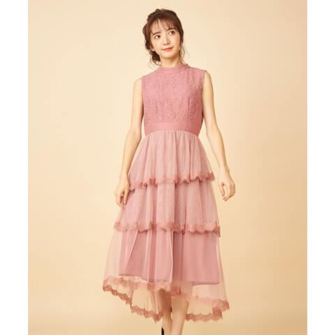 結婚式 お呼ばれドレス 20代 コーデ フリル