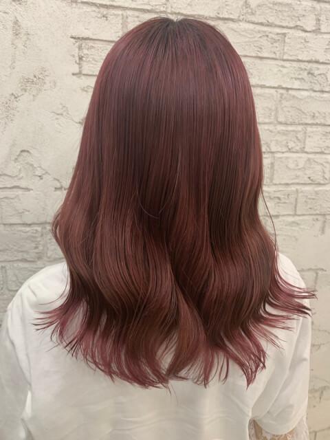 ピンクブラウン 髪色