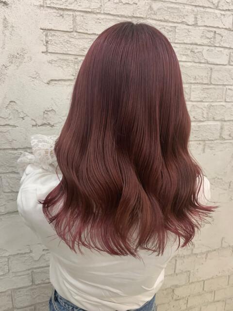 ピンクブラウン 髪色 ピンク ヘアカラー