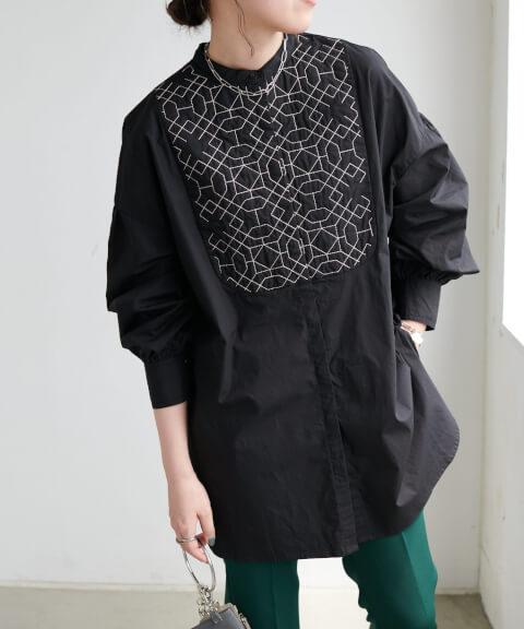 3.Discoat(ディスコート)キルト刺繍ビックシャツ