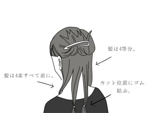 ロングヘアの髪の切り方