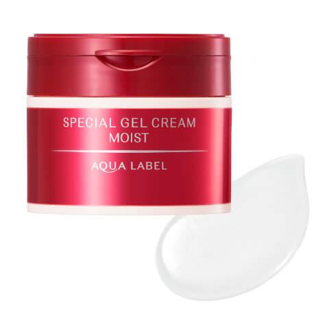 スペシャルジェルクリームモイスト アクアレーベル クリーム オールインワン 美白 青 乳液 化粧水 成分 赤