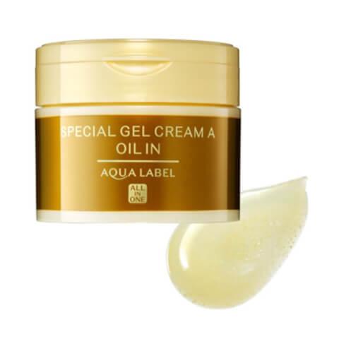 スペシャルジェルクリームオイルイン アクアレーベル クリーム オールインワン 美白 青 乳液 化粧水 成分 赤