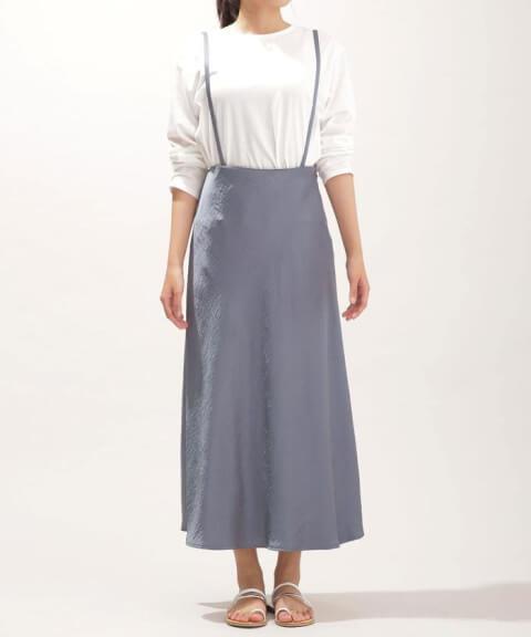 ナノ・ユニバースサスペンダースカート