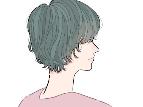 マッシュショート ベリーショート くせ毛