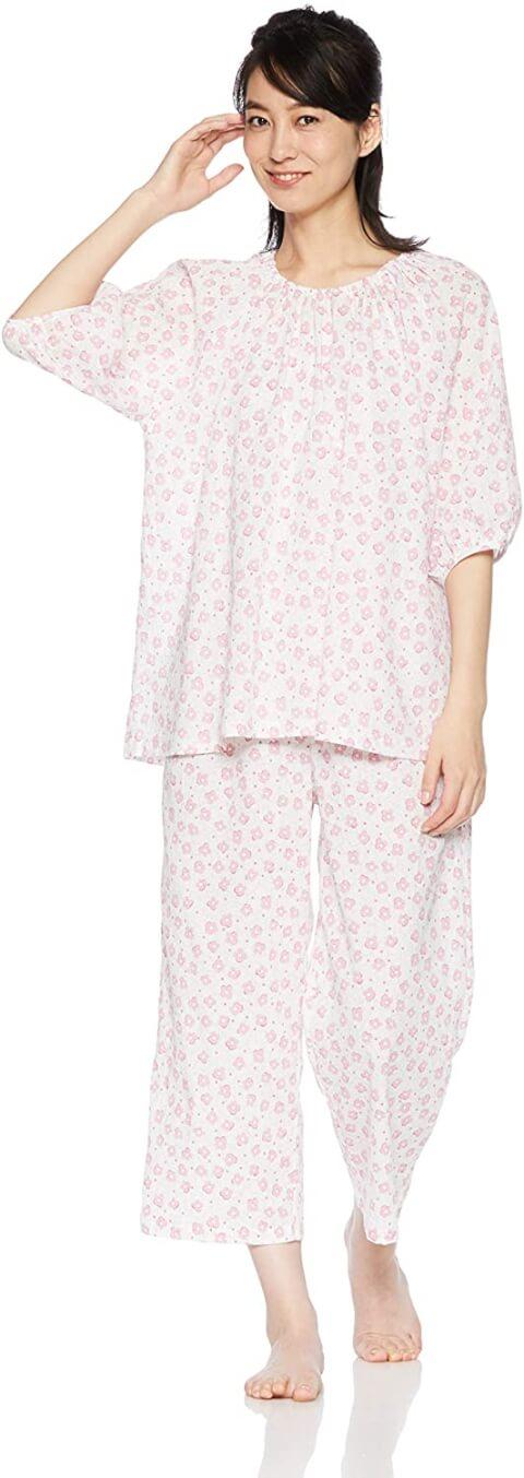 ワコール花ドット柄パジャマ