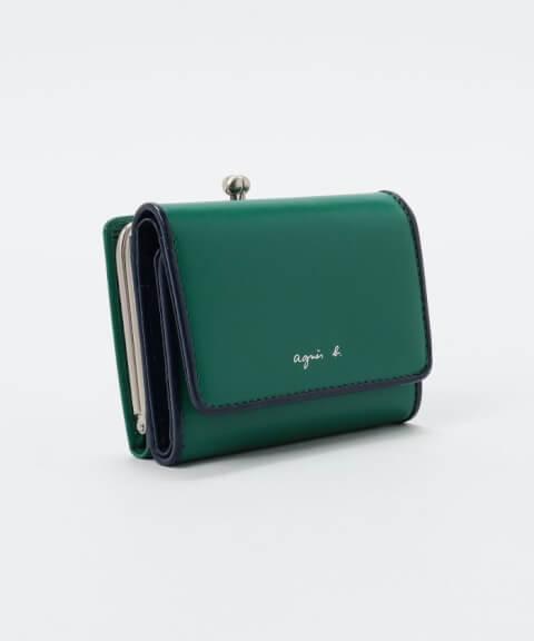 agnes b. アニエスベー 緑 財布 ミニ財布