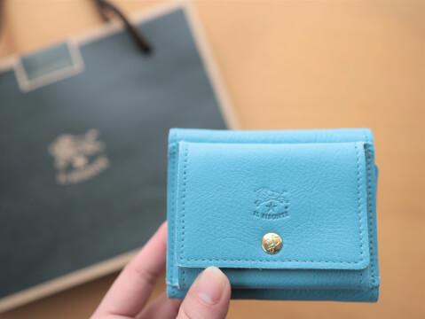 イルビゾンテ 水色 ライトブルー 財布