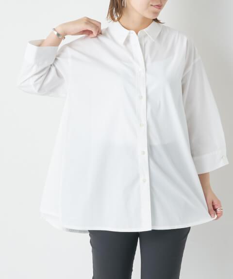 白シャツ コーデ レディース カジュアル 春夏 おしゃれ 太って見える