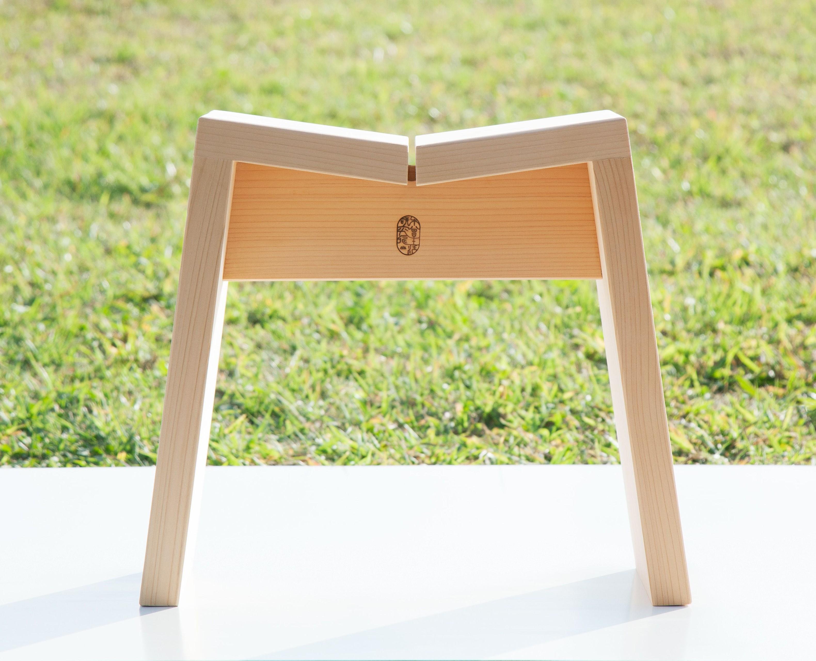 木曽生活研究所 木曽のサワラでつくった風呂椅子