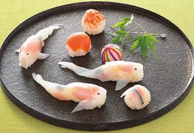 大分・佐伯/丹匠「錦鯉の姿寿司」