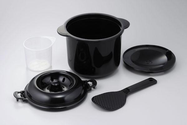 電子レンジ専用炊飯器備長炭入りちびくろちゃん2合炊き