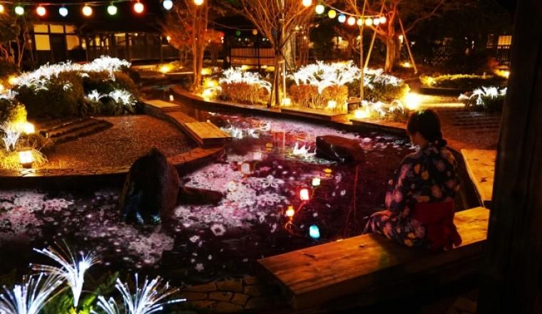 賞櫻新體驗就要去東京台場「大江戶溫泉物語」! 據說可以在幻想空間邊泡足湯邊享受櫻花
