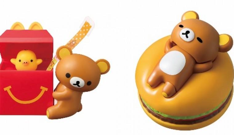 日本麥當勞兒童餐「拉拉熊」初次登場♪ 杜杜鳥會從箱子內探頭出來,牛奶熊也會坐著喝麥當勞飲料喔!