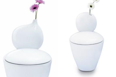 什麼?馬桶插上鮮花!? 鮮花裝飾的馬桶登場囉 / 確實整體空間上還蠻時尚的啦…