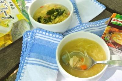 【令人意外的日本拌手禮】即食湯品送人自用兩相宜 / 很輕又不佔空間,帶回去很方便♪