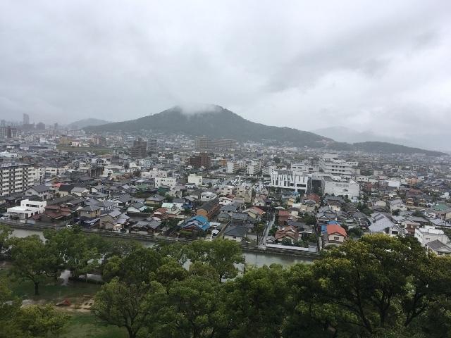 丸亀城 ③  讃岐富士