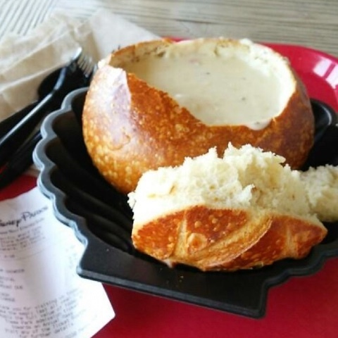 Soup in Sourdough Bread Bowl