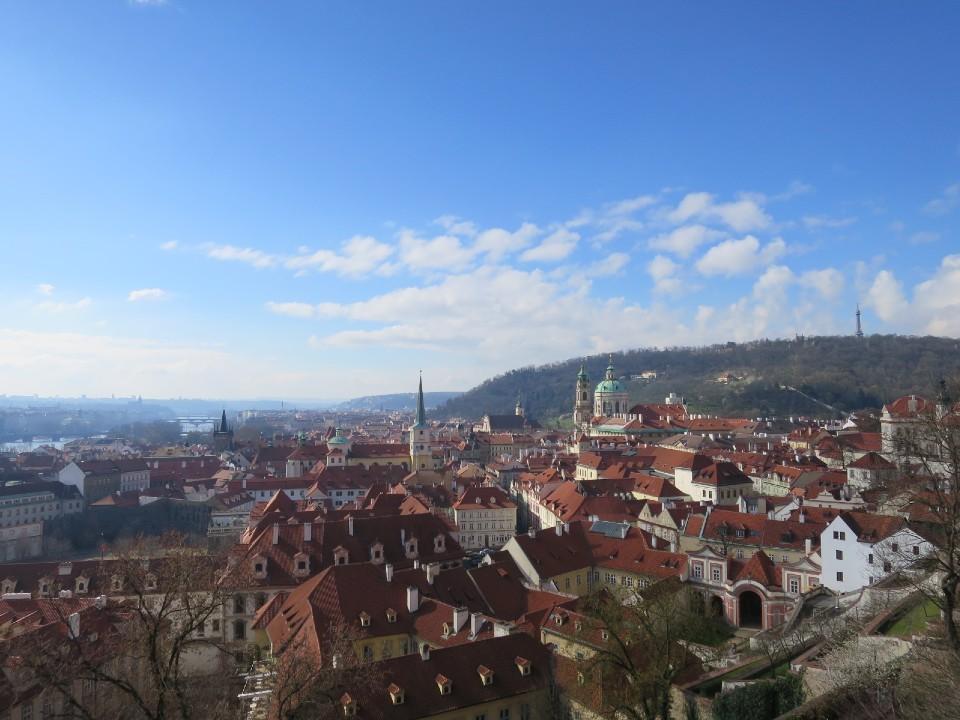 プラハ城から見たプラハの町