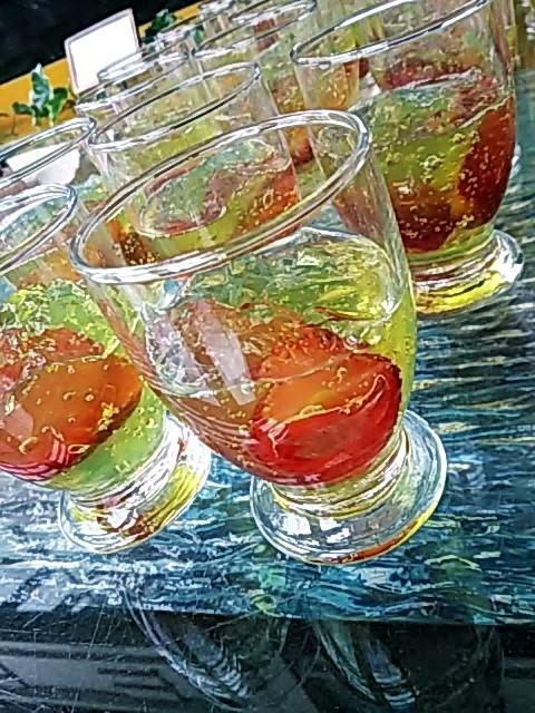 苺のコンポートベルベーヌゼリー