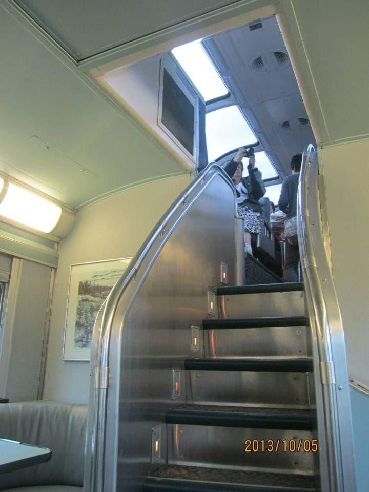 VIA鉄道の車内
