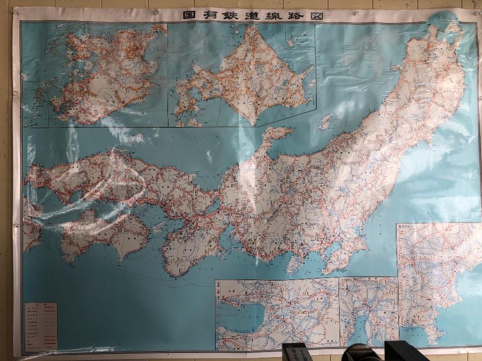 国鉄時代の路線図