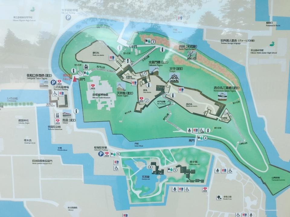 彦根城②城内地図