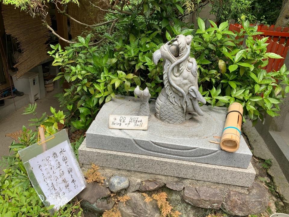 伏見神寶神社の神龍頭