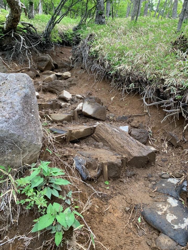 石ゴロゴロの道