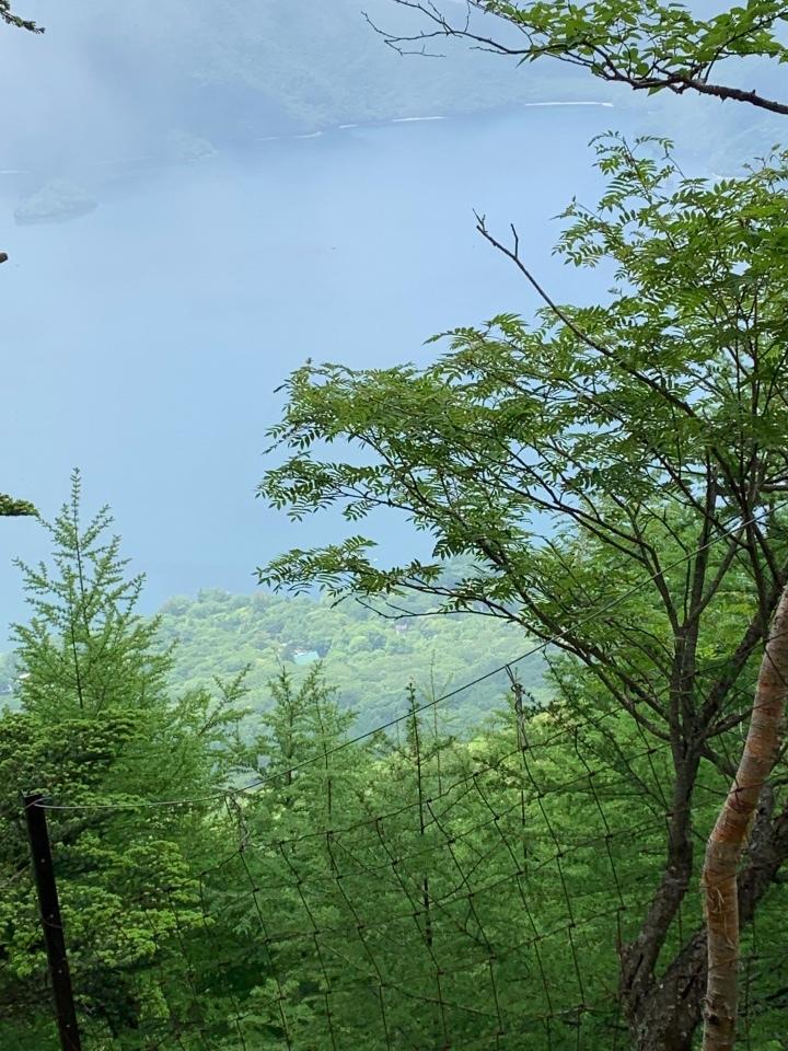 5合目からの中禅寺湖