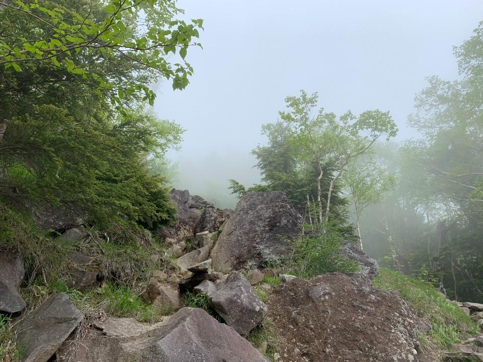 霧の向こうは中禅寺湖