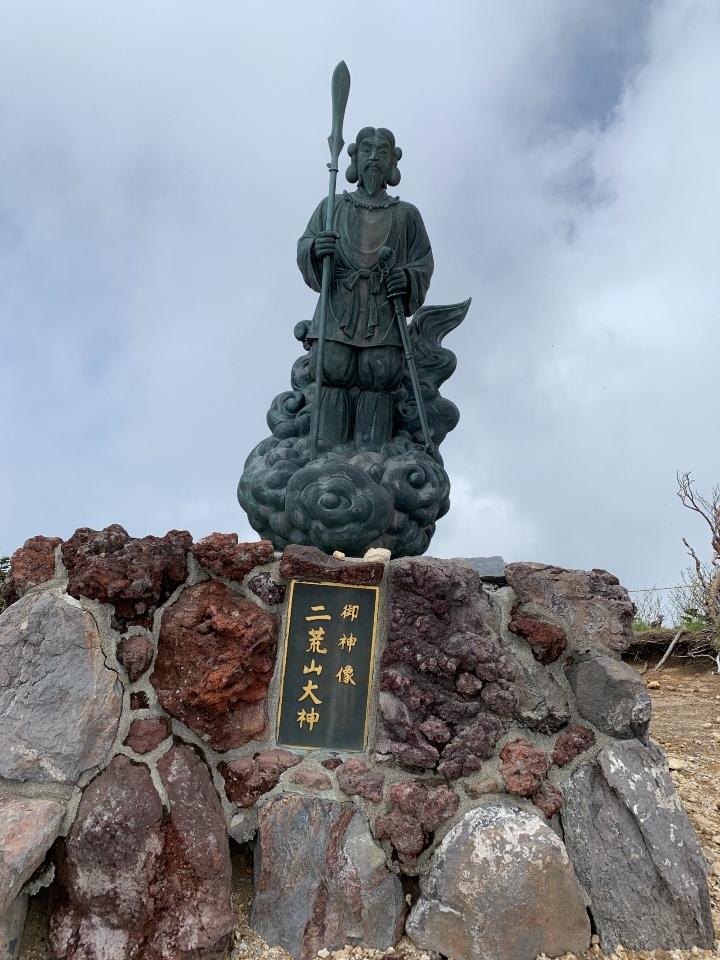 二荒山大神の銅像