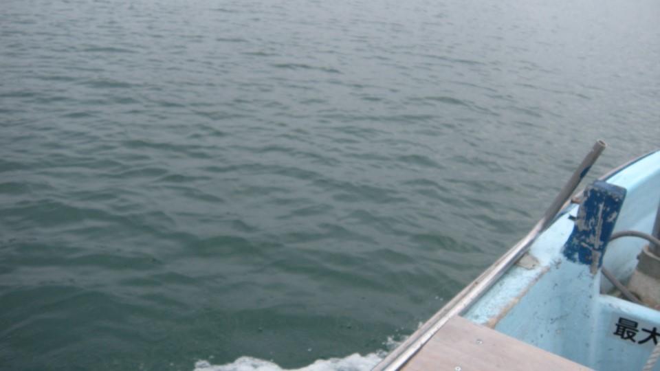 四万十川を渡船で渡る