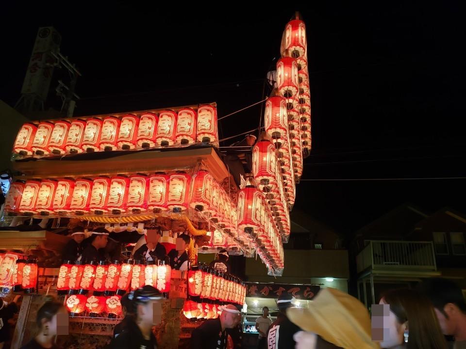 夜の岸和田だんじり祭