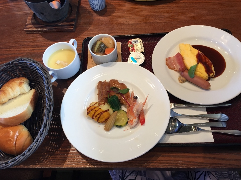 「朝食」浜千鳥の湯 海舟
