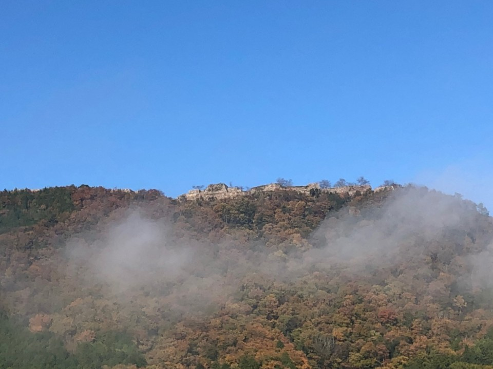 下界からの竹田城