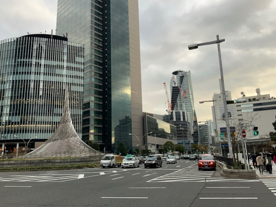 JR名古屋駅前の風景