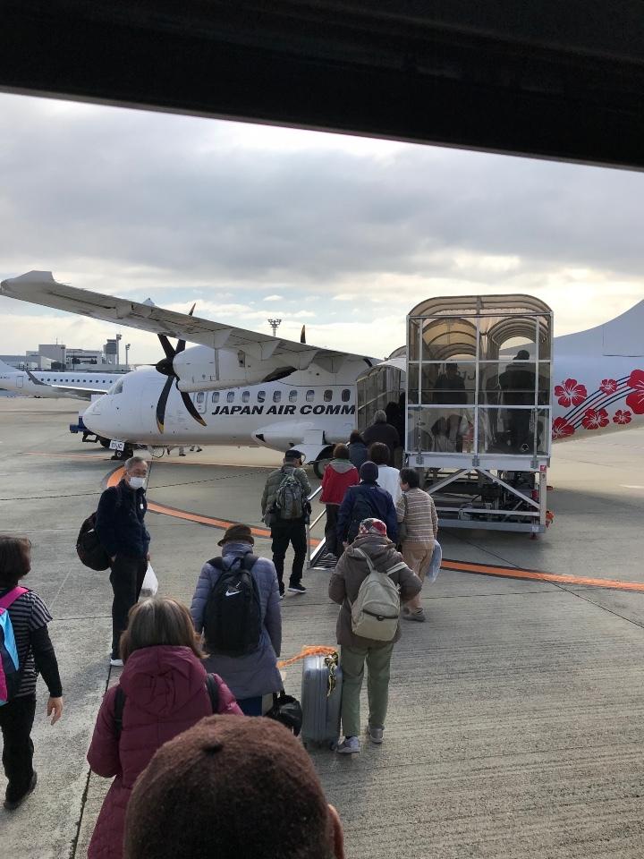 飛行機にて屋久島空港