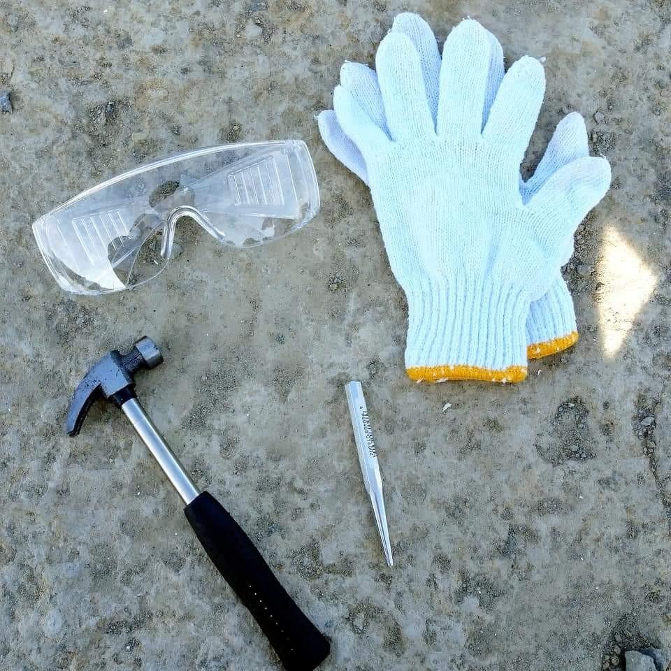 化石採集の道具