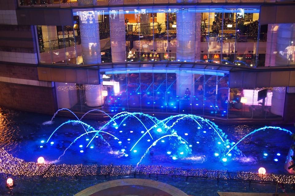 キャナルシティ博多の噴水ショー