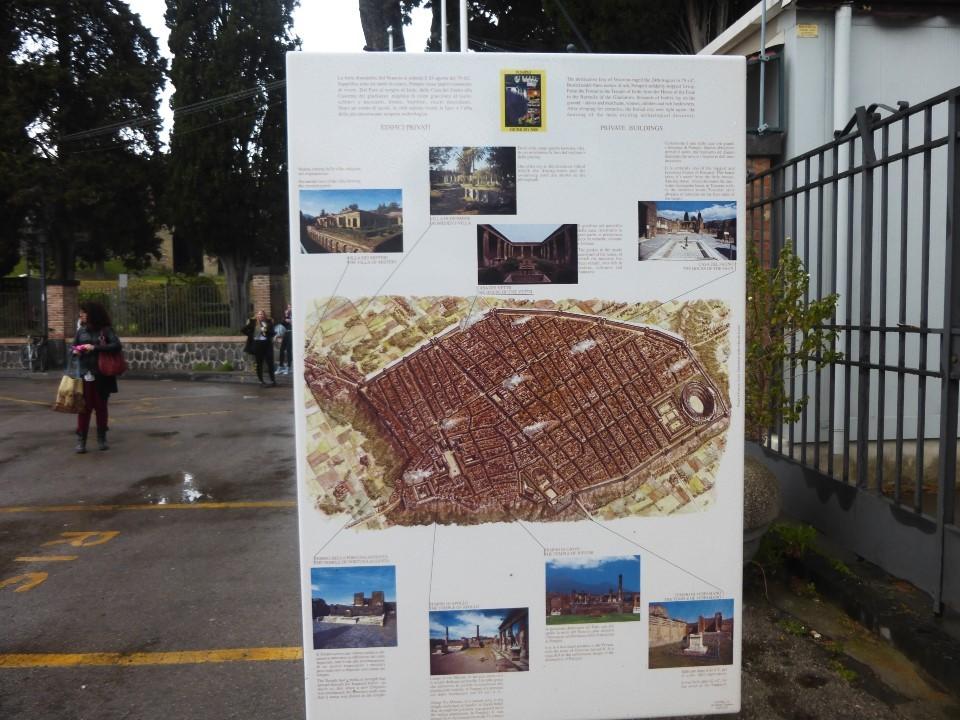ポンペイ遺跡マップと外観