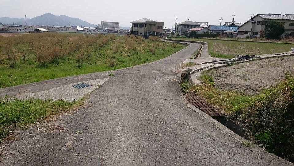和歌山市内に下りた熊野古道の風景