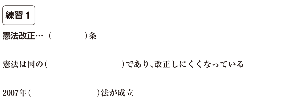 中学公民13 練習1 空欄